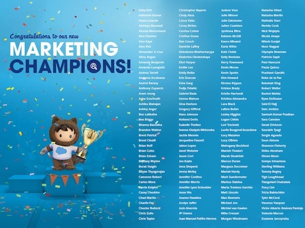 Salesforce Marketing Champions - Class of 2020